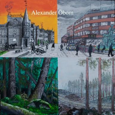 Staden och skogen då och nu (staden=Umeå)