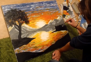 Watch a speeded up video of me painting