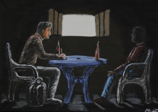 The person to the left is supposed to be me and these are illustrations for my thesis in anthropology, based on interviews/observations I did in Kisoro in 2017.