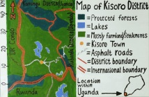My own map of Kisoro, Uganda (in 2017)