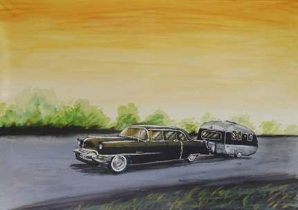 Cadillac med husvagn