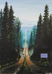 Vid vägens ände. Akrylmålning på kanvas 50×70 cm. 1200 kr. SÅLD.