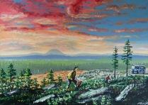 I hopp om återbäring. Akrylmålning på kanvas 70x50 cm. 1200 kr.